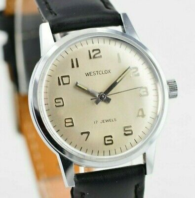 K562  Vintage Westclox Mechanical Hand-Winding Watch Silver Mens 20.1