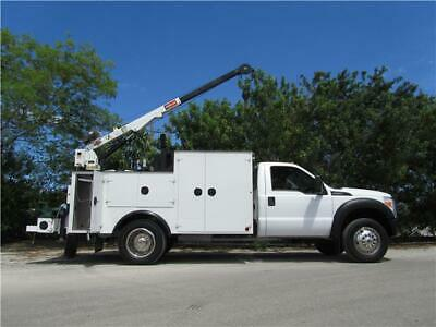2011 Ford F-550 4Wd Utility Mechanics Crane Welder Oil Air Compressor Generator!