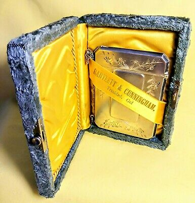 ESTATE LIQUIDATION..Antique STERLING SILVER CARD CASE WOOD HUGHES & Box REDUCED