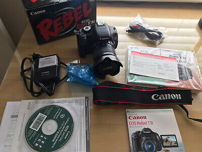 Canon EOS Rebel T3i 18.0MP Digital SLR Camera w/ 18-55mm Lens For Parts/Repair