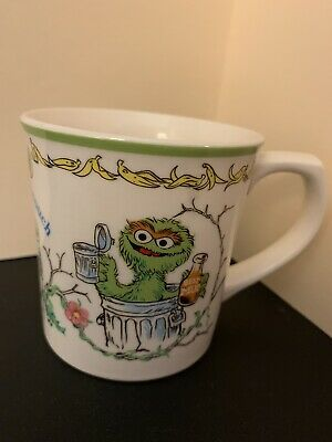 Vintage 1977 Muppets Inc Japan Gorham Oscar The Grouch Coffee Cup Mug