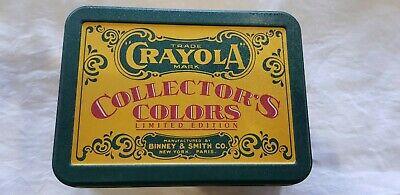 Crayola Crayons Collector's Colors tin 72 crayons NEW limited edition