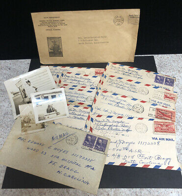 Vintage Military Letters With A Few Photos 1949 (D)