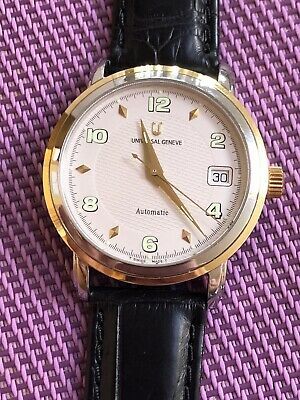 Watch Universal Geneve  Automático,  Old Stock Steel And Gold Eta 2824-2 Top