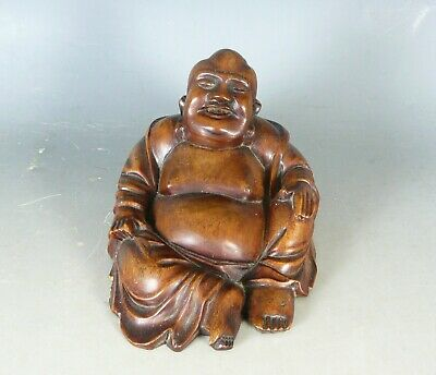 Chinese Carved Wood Buddha 20Thc