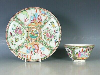 Chinese Famille Rose Porcelain Bowl And Plate L19Thc