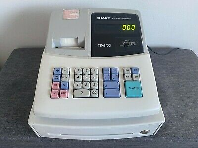 SHARP XE-A102 Electronic Cash Register With New Ink Roller