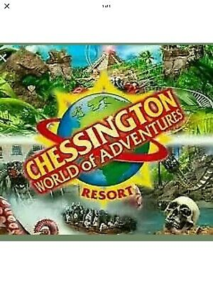 2 X Full Day Entry Tickets Wednesday 8th July 2020 Chessington Tickets