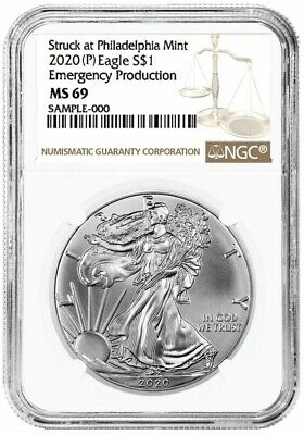 2020(P) Emergency Production American Silver Eagle - NGC MS69