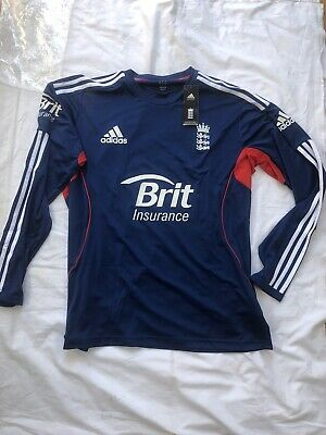 Authentic BNWT Mens England Cricket Long Sleeve Training Top