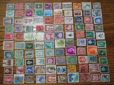 Henry's Stamps- 053002 - 100 Different Worldwide-Small Format-Used/Off Paper-