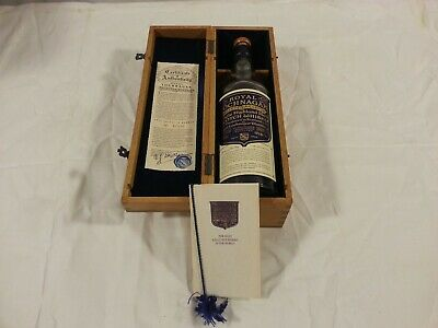 Royal Lochnagar Whiskey Selected Reserve Wood Box and empty bottle
