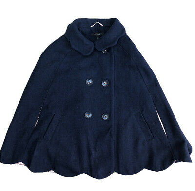 M&S Autograph Girls Navy Poncho Cape Coat Age 7-8 Years