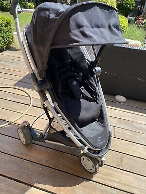 Quinny Zapp Xtra Single Seat Stroller And Muff - Black