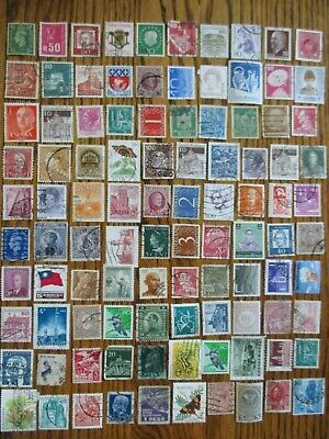 Henry's Stamps- 053004 - 100 Different Worldwide-Small Format-Used/Off Paper-
