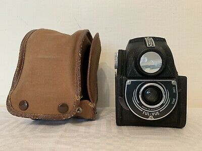 A Vintage Ensign Ful-vue Camera, With Case.