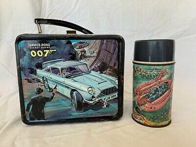 James Bond 007 Lunchbox W/ Thermos 1966