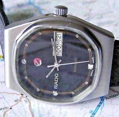 VERY RARE Gents RADO Voyager Octogonal Automatic 17 j SWISS MADE  🚚 FAST & FREE