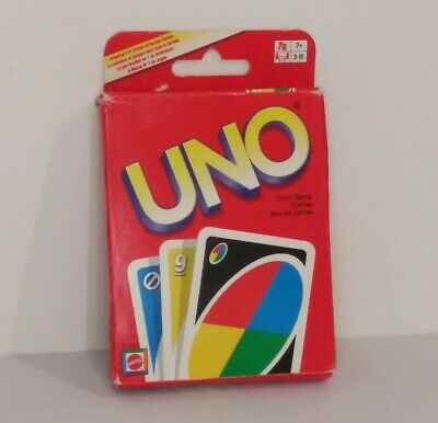 UNO Card Classic Game Player Wild Card Matching Colors Numbers Deck Complete