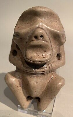Taino. Anthropic Effigy. Heavy Silicate Stone. PreColumbian