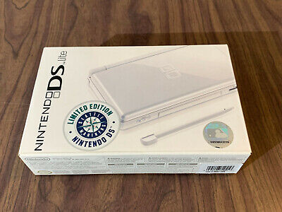 Nintendo DS Lite Polar White Limited Seattle Mariners System -- Brand New --