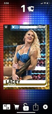 WWE Topps Slam Digital 2020 Chrome Gold Superfractor Lacey Evans SSP Brand New