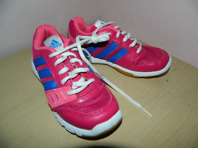 .girls Adidas ortholite pink/blue lace up trainers uk 11 eur 29  nice condition