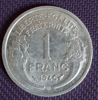 **1946 FRANCE 1 B FRANC IN EF CONDITION Nice Collector Coin