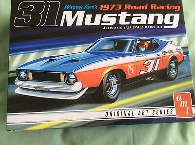 AMT 1973 Ford Mustang Warren Tope's Road Racing Sealed bags model kit 1/25 1:25