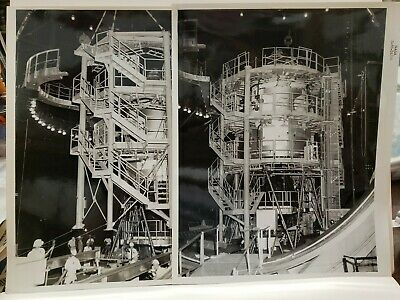 Nasa B&W (2) Photos s-66-34232 &  s-66-34358 Chamber A, 2 TV-1 Workstand