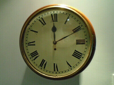 "Antique 14"" 8 Day Fusee Dial School/Station Wall Clock"