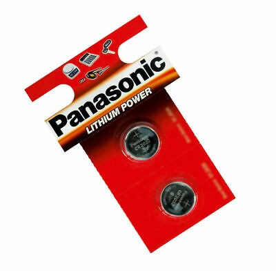 Pack Of 2 Panasonic CR2032 Coin Cell Battery Car Key Fobs Remote Laptop Camera