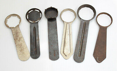 Good lot with 6 Vintage watch case opener Watchmakers tools