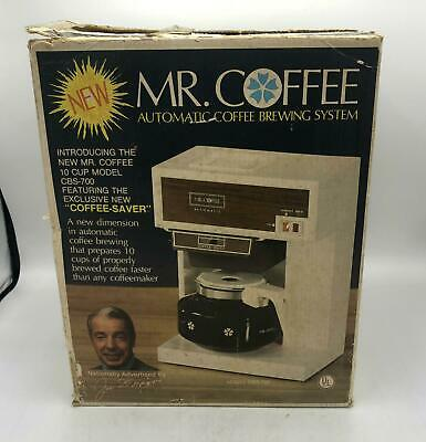 Vintage Mr. Coffee CBS 700 10 Cup Automatic Coffee Brewing System - New Open Box