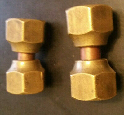 "brass union  3/8"" female flare by 3/8"" female flare"