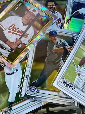 2020 Bowman Baseball Variations Prospects Chrome Auto Inserts - Pick Your Player