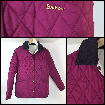 BARBOUR girls Ladies Quilted Jacket Coat Size 14-15 Y Ladies XS approx
