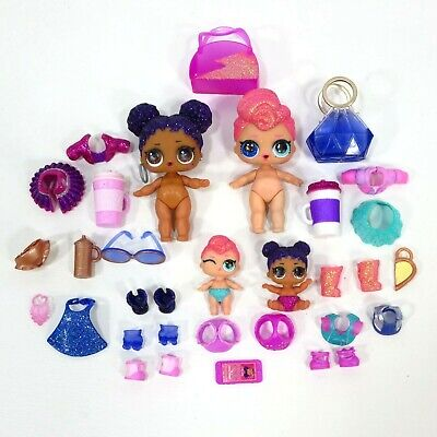 LOL Surprise Doll Purple Glitter Queen & Stardust Big And Lil Sis Little Sisters