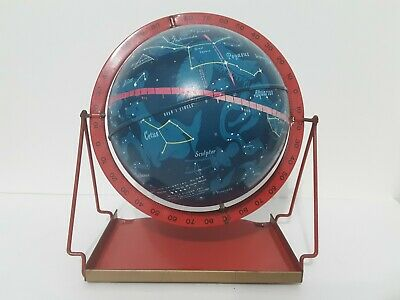 "Vintage 1950`s Tin Metal 6"" Celestial Globe Astrology Made in USA"