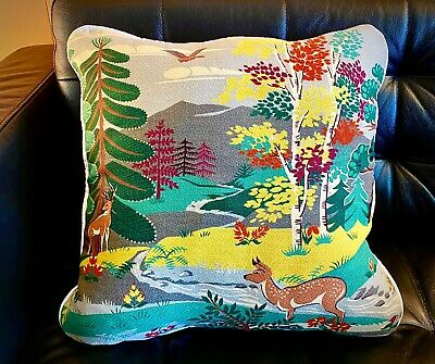 "Barkcloth Pillow Cover For 20"" Insert New Vintage The Kitsch Collection"