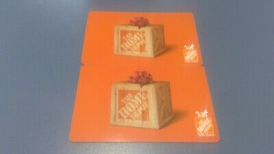 Home Depot 2X $ 100.00 Gift Card = $200.00 Gift Cardsfree Shipping Us