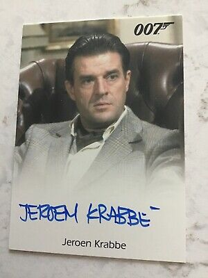 "Jeroen Krabbe Autographed James Bond ""The Living Daylights"" Card"
