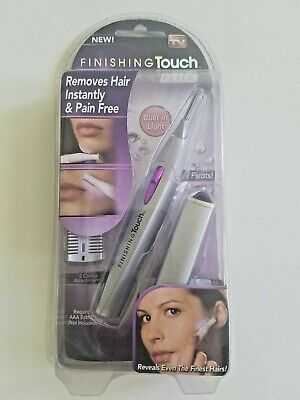 Finishing Touch Lumina Elite Personal Hair Remover - Built-in Light, Pivots, New