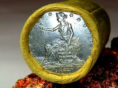 1877 Trade Very Nice End / 1879 Top Quality End Morgan Dollar Roll$20 #Mm648