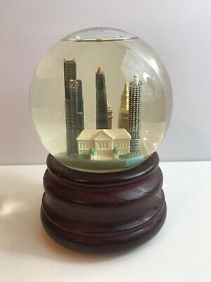 Rare Collectible CHICAGO Musical Snow Globe Dome ART Museum Architecture 5.5""