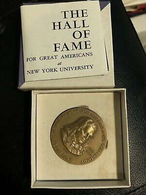 Elias Howe Bronze Medal New York University Hall of Fame Medallic Art Co
