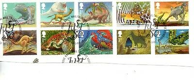 GB  QEII 2002 SG 2243  to 2252 - Kipling's Just So Stories VFU ON PAPER