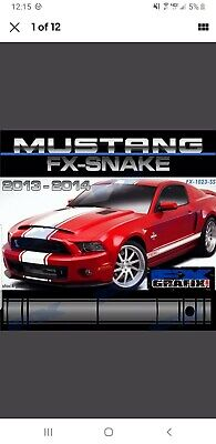 "Ford Mustang Exclusive 21"" GT 500 Super Snake Style Stripe Kit Dealer Quality"