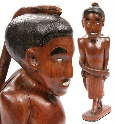 Vintage Melanesian Micronesian Carved Wooden Figure Pacific Island Polynesian