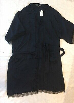 Love To lounge , Primark, Short Sleeved Dressing Gown   Blue/black Size L